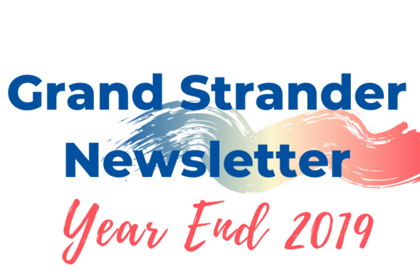 text saying grand strander newsletter
