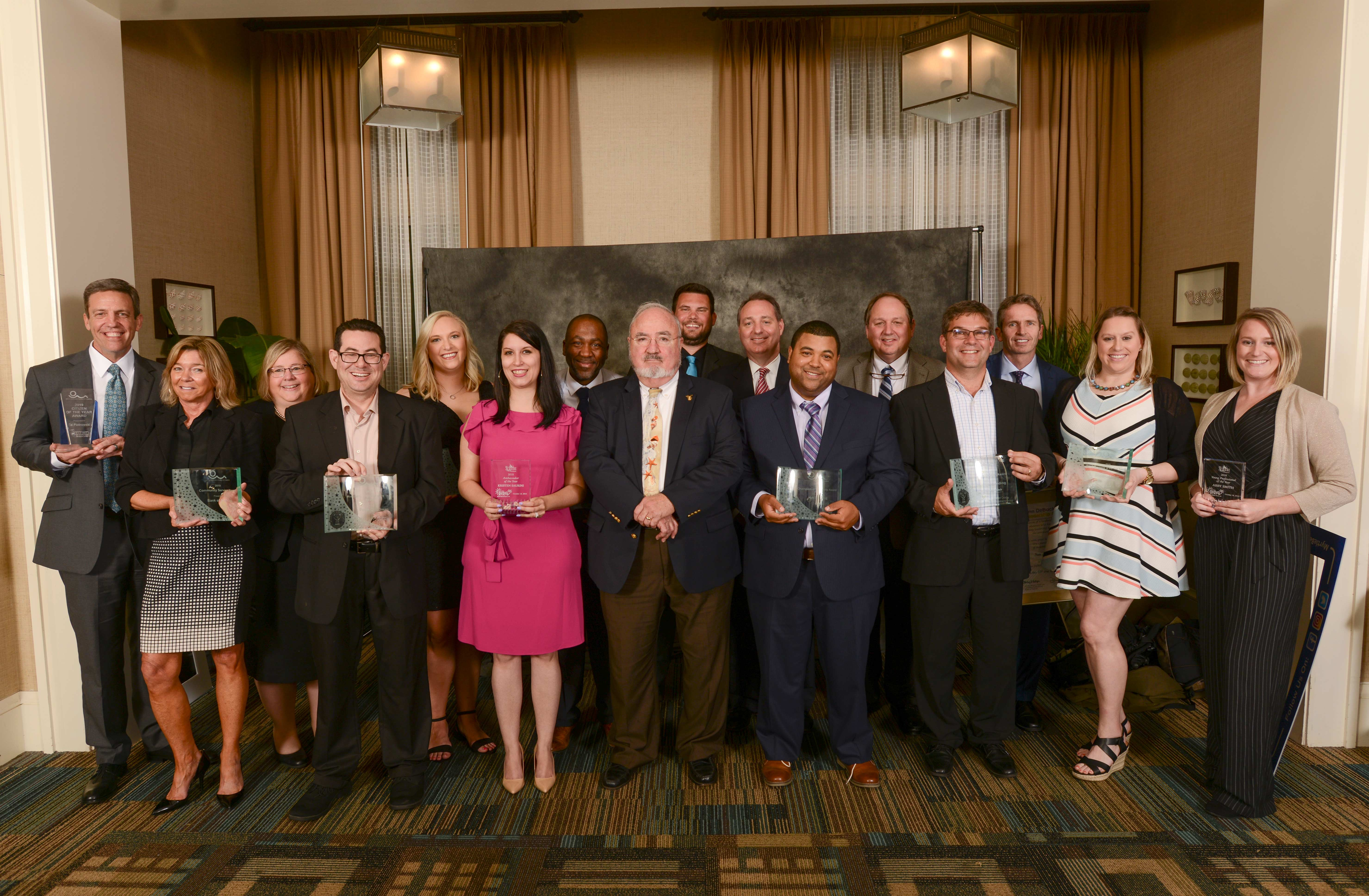 Photo of the 2019 Annual Meeting award winners